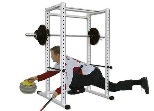 Curling In The Squat Rack
