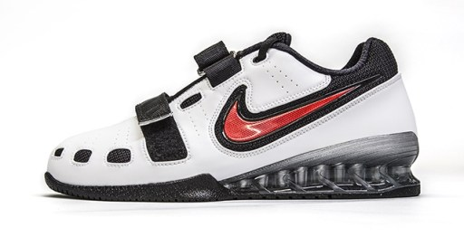 White & Red Nike Romaleos 2 Weightlifting Shoes