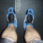 Blue Asics Wrestling Shoes