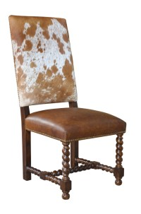 Barley Twist Cowhide Dining Chair