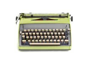 conscious aging blog posts typewriter image