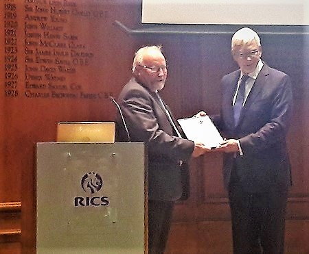 John Rae appointed as honorary chartered surveyor by RICS