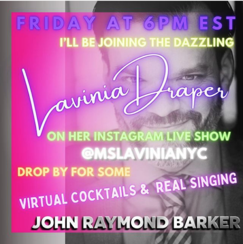 Promo for internet concert with Lavinia DRaper on Instagram Live