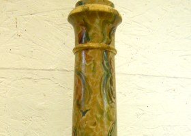 Marbled Lamp Stand after painting