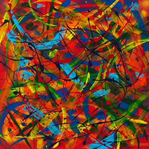 """No. 2295. Empowerment Series: """"Toy Soldier"""". $2,500. Original Mixed Acrylic on 36""""h x 36""""w Premium Quality Stretched Canvas."""