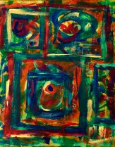 """No. 2359. """"Portal Doorways 1"""" from the Kaleidoscopic Illusion Series. $450. Original mixed acrylic paint on 20"""" x 16"""" x .5"""" stretched canvas."""