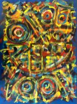 """No. 2388. """"Homage to Paul Klee"""" from Artist's Tribute Series. $1,950. Original Mixed Acrylic on 24"""" x 18"""" x 1.5"""" Premium Quality Stretched Canvas."""