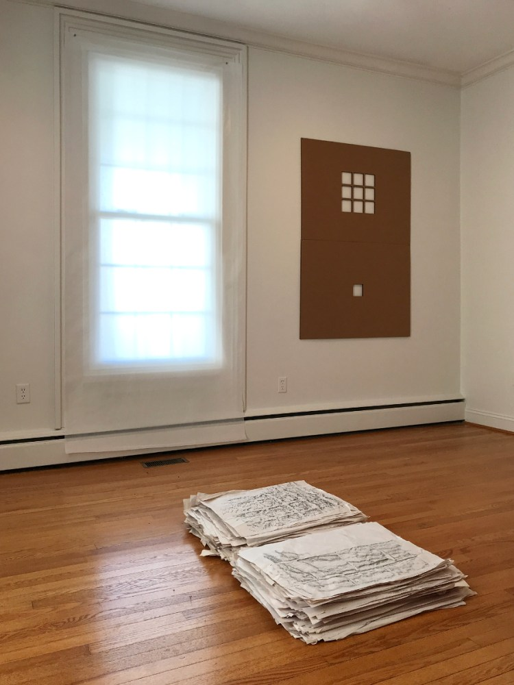 john ros mealymouthed dexterity 2018 durational mixed media installation two-person exhibition with r. mertens smith house galleries arts council of the valley harrisonburg virginia