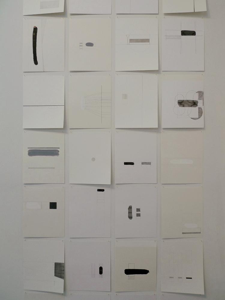 john ros drawing installation, aggregate, 2010-2014