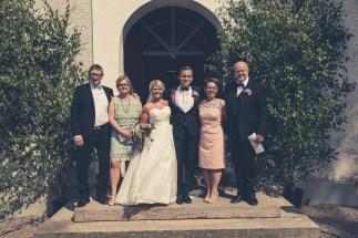 Bröllopsfotografering familjeporträtt