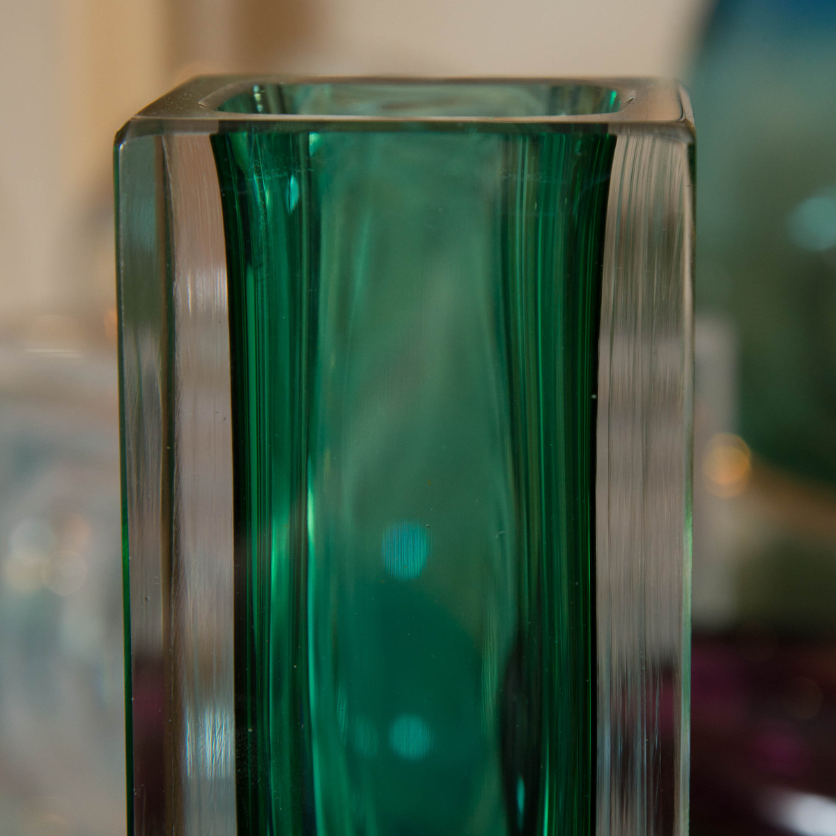 Emerald green Murano glass vase  Vases  John Salibello
