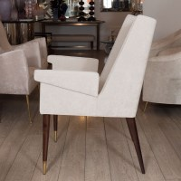 Single upholstered armchair with wood legs   Single Chair ...