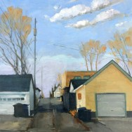 """39th & Thomas Ave. S., 14""""x11"""" oil on panel"""
