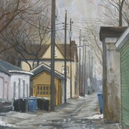 """32nd & Lyndale, 5""""x7"""" gouache on watercolor paper"""