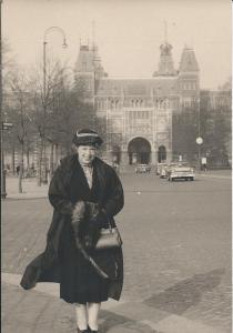 Mom in A'dam '58