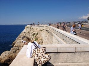 Beginning of the Promenade des Anglais Nice