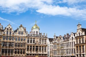 Guildhouses in the Grand Place in Brussels Belgium