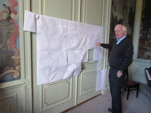 Jan Nierman bij de stamboom-a