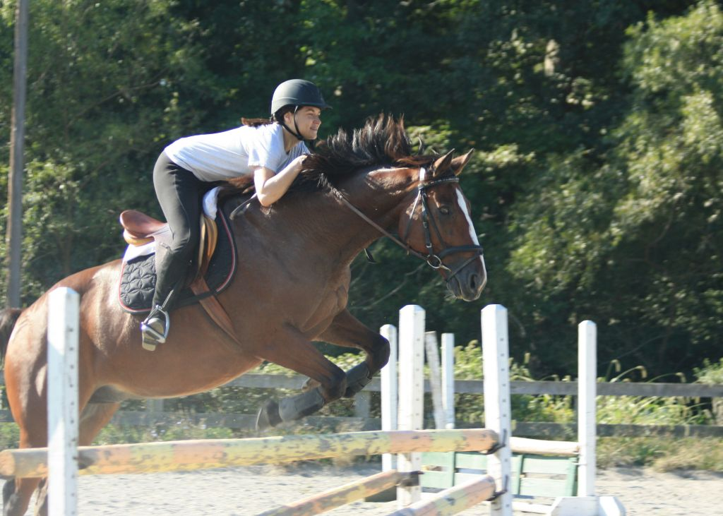 Sam and Beau jumping_Sept 2014