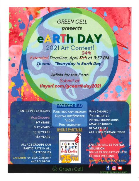 Green Cell presents Earth Day Art Contest