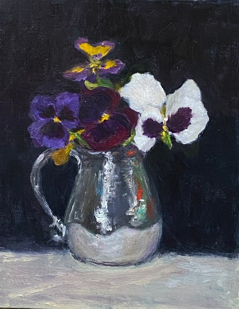 Beth Blackwell Cullen Pitcher of Pansies