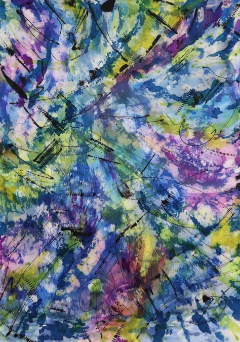 Leslie Todder Abstract in Blues