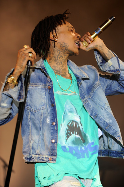 Pic of Wiz Khalifa on stage. Photo by John Shippee Photography