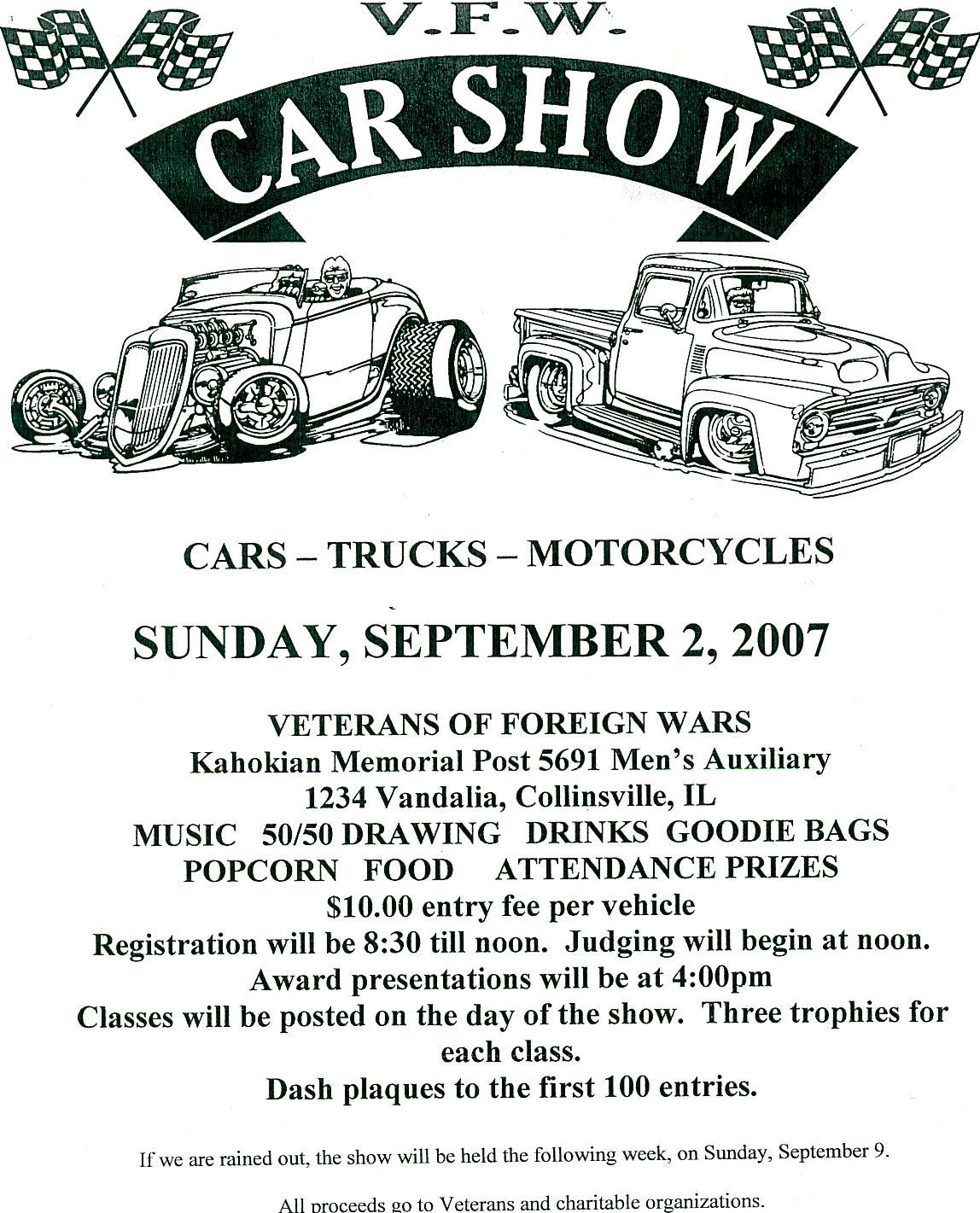 Download Free Software Vfw Website Template Aurillador For Make Your Own Car  Show Flyer