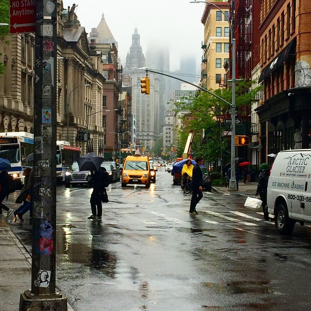 I took this photo the other day wandering towards Chinatown.  #NYC always looks better when the weather sucks.