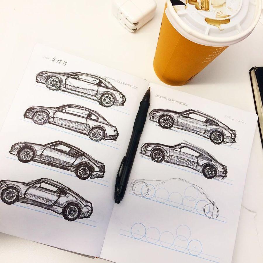 @idrawco cars and coffee.