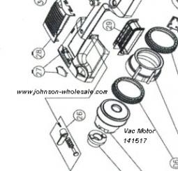 Minuteman V14 Pro and V17 Pro Plus Vacuum Parts: Johnson