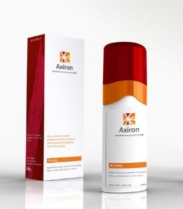Axiron bottle and packaging
