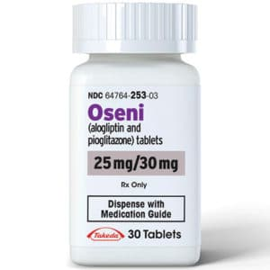 Oseni bottle containing 25 mg tablets
