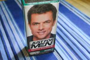 Image of Just For Men hair dye product packaging