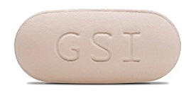 Beige Complera pill labeled GSI