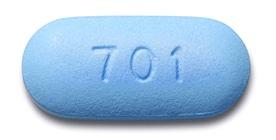 Blue Truvada pill number 701