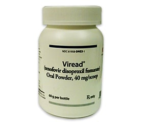 Bottle of Viread Medication
