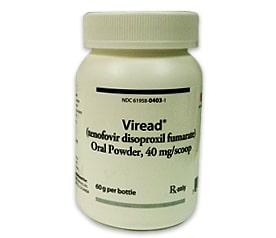 Bottle of Viread Medication