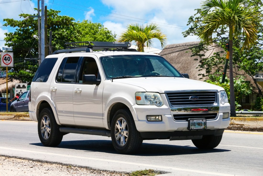 Image of Ford Explorer model similar to those that have been recalled
