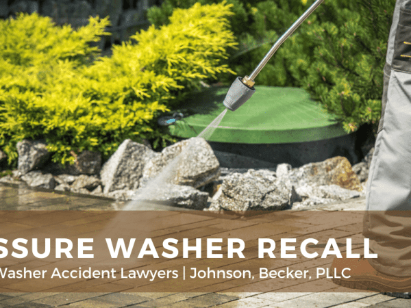 pressure washer recall accident lawyers lawsuit