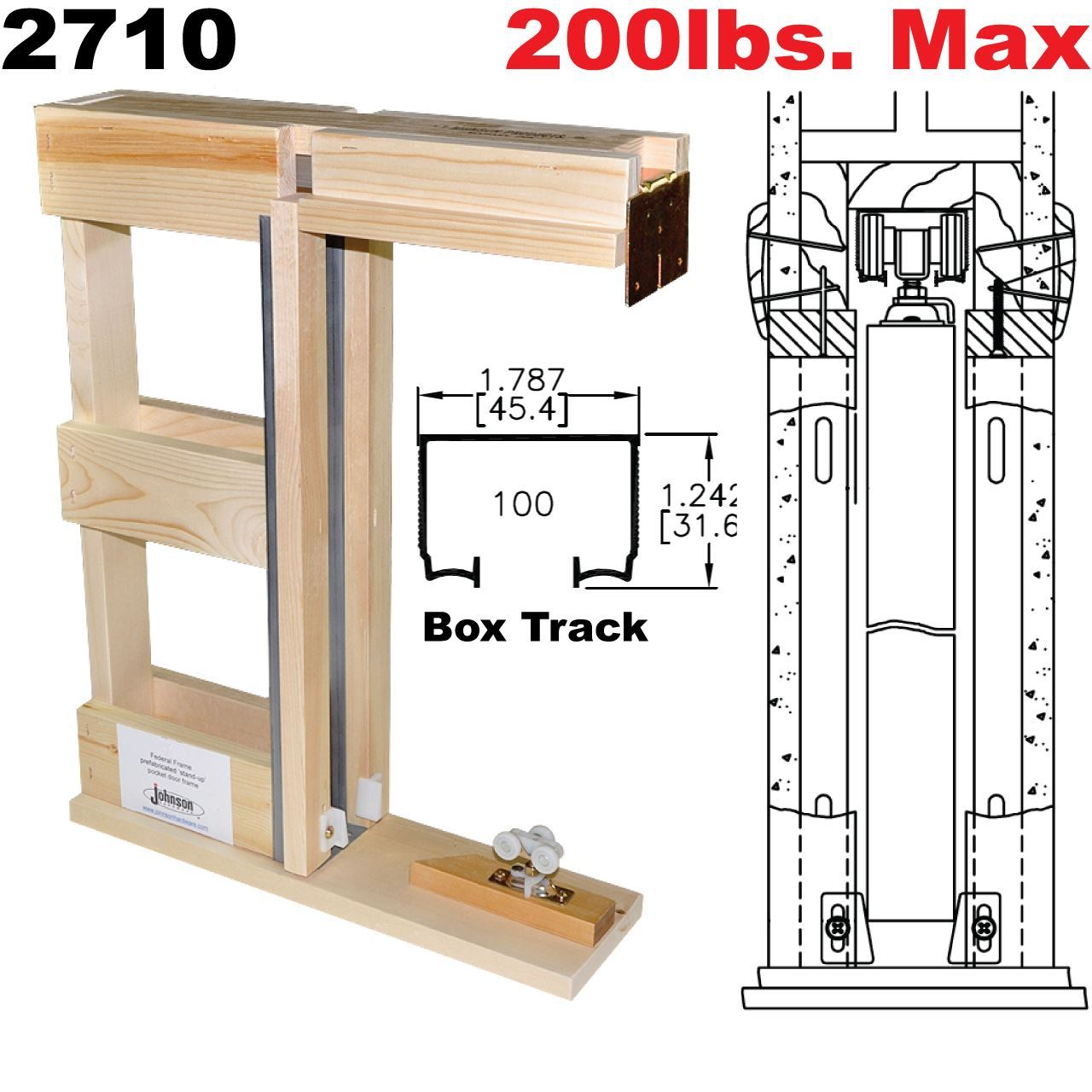 hight resolution of picture of 2710 series prefabricated pocket door frame kits