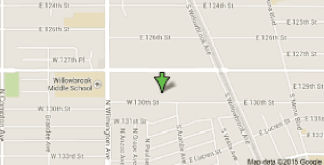 Google Map 2045 E 13th Street Compton CA 90222 800x416