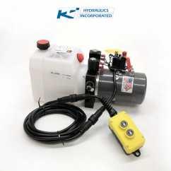 12v Hydraulic Pump Wiring Diagram 1999 Toyota Camry Fuse Box 3 Quart Kti Double Acting Dc 4442