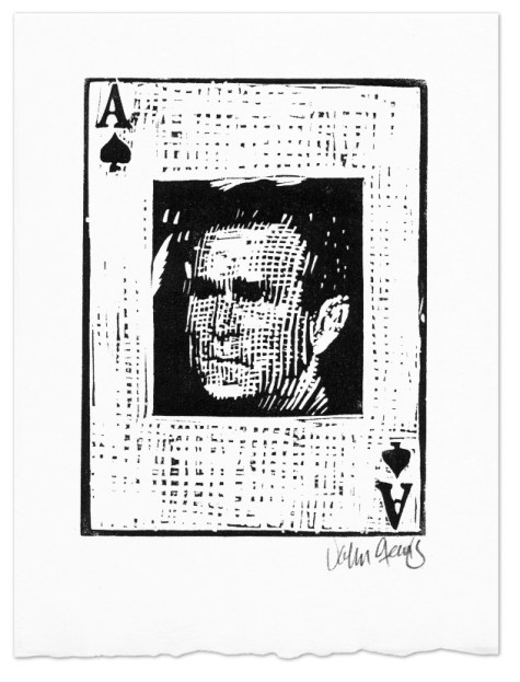 George Bush as the ace of spades in the Axis of Weasels card deck