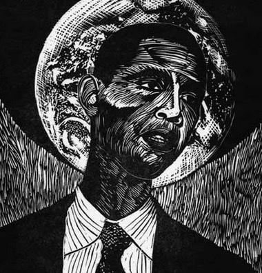 Obama ~ Linocut ~ John Steins