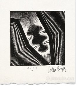 Vee wood engraving