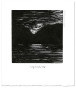 """September"" ~ wood engraving ~ © John Steins"