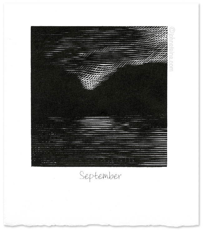 """September"" ~ wood engraving ~ © John Steins"