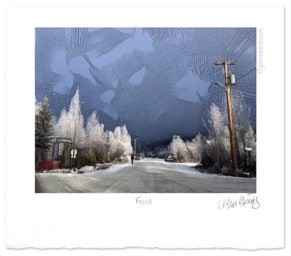 Frost ~ landscape winter street scene