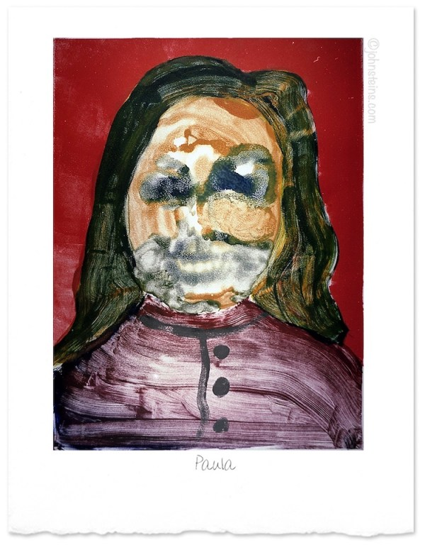 """Paula"" ~ mono-print ~ © John Steins"